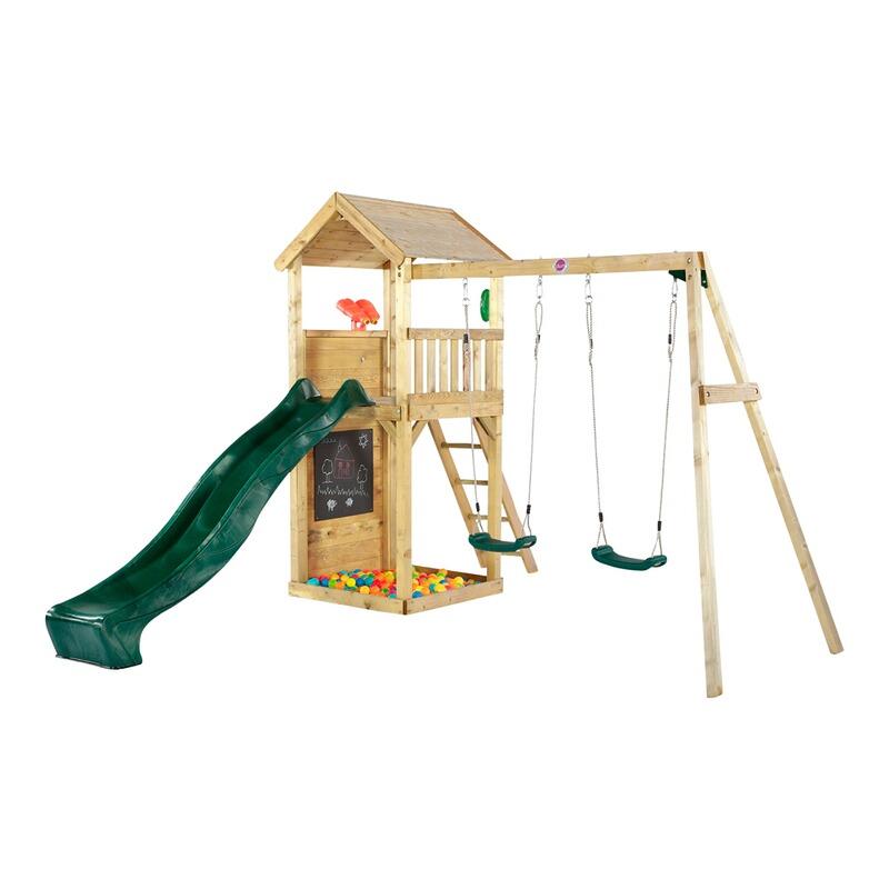 Outdoor Spielturm mit Schaukel und Rutsche