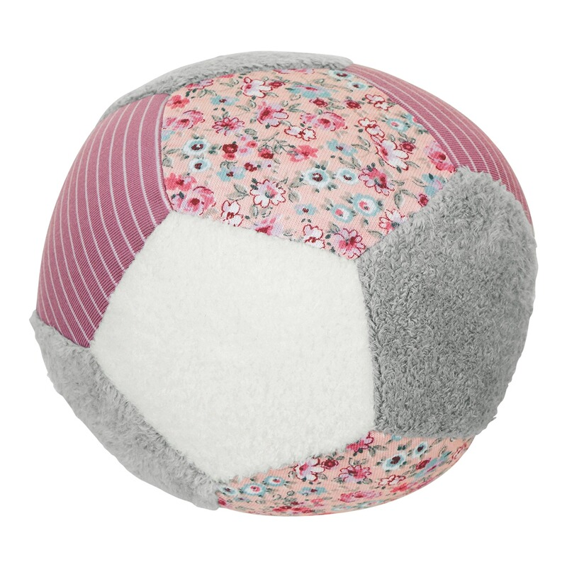 Soft-Spielball rosa/grau