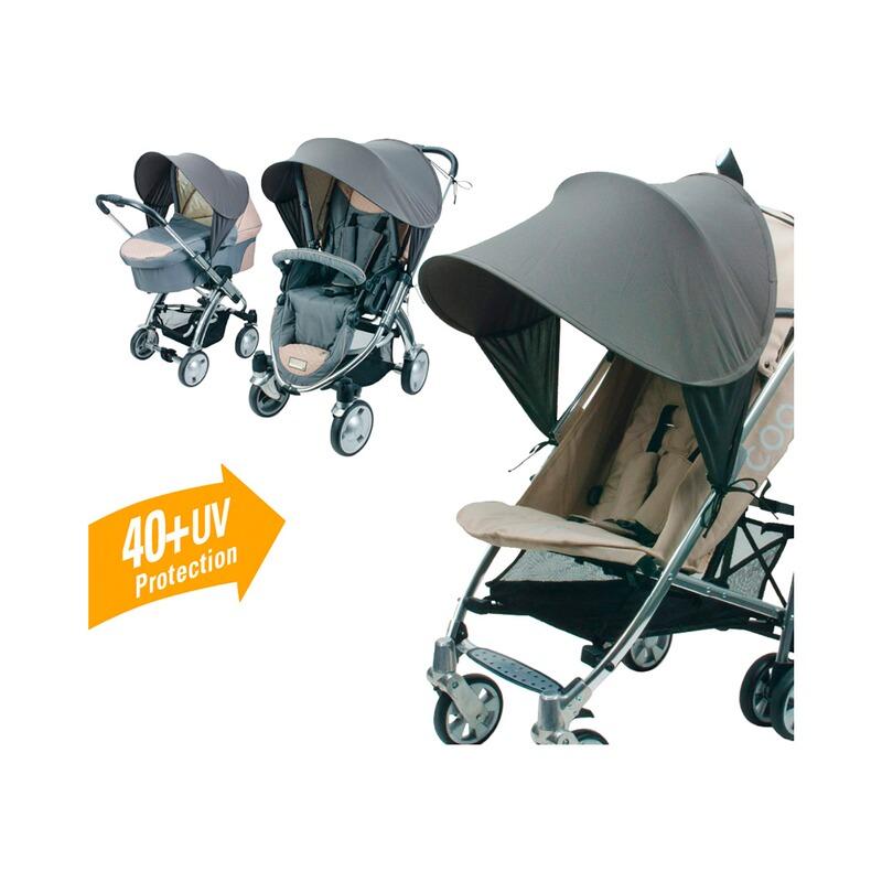 Sonnenverdeck Universal Premium für Kinderwagen grau