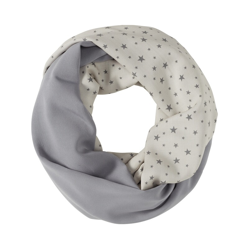 WE LOVE BASICS Still-Schal Dots All Over Print Stars Grey