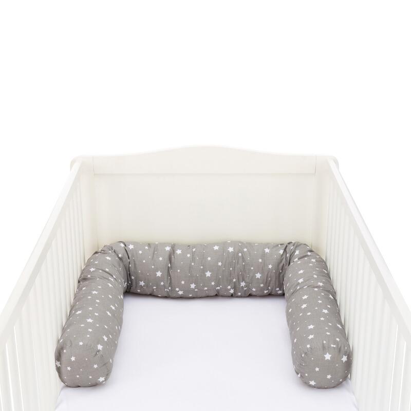 Nestchenschlange 190 cm Sterne grau